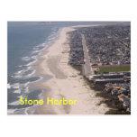 Antena de piedra de la playa del puerto tarjetas postales