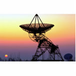 Antena de plato de la radioastronomía esculturas fotograficas