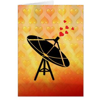 Antena del amor tarjeta de felicitación