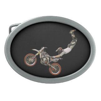 antena del motocrós hebilla cinturón oval