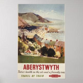 Antena del poster británico de los ferrocarriles d