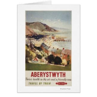 Antena del poster británico de los ferrocarriles d tarjeta de felicitación