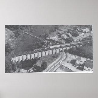 Antena del viaducto del cantón impresiones