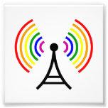 Antena gay de la señal del arco iris de Wifi Cojinete