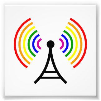 Antena gay de la señal del arco iris de WiFi Fotografía