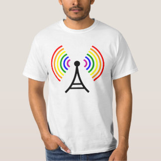 Antena gay de la señal del arco iris de WiFi Playeras