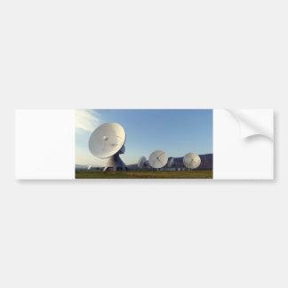 Antena parabólica etiqueta de parachoque