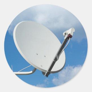 Antena parabólica pegatina redonda