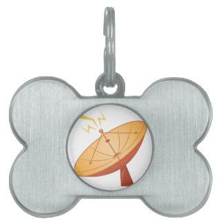 Antena parabólica placa de mascota