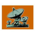 Antena parabólica retra postales