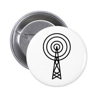 antenna aerial sign 2 inch round button