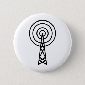antenna aerial sign pinback button
