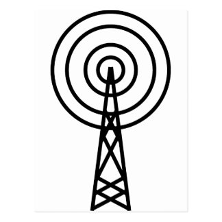 antenna aerial sign postcard