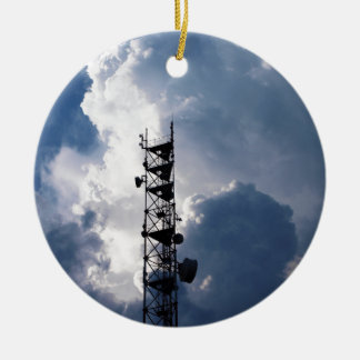 Antenna and thunderclouds ceramic ornament