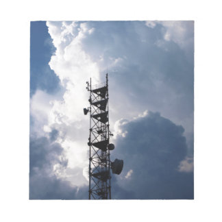 Antenna and thunderclouds notepad