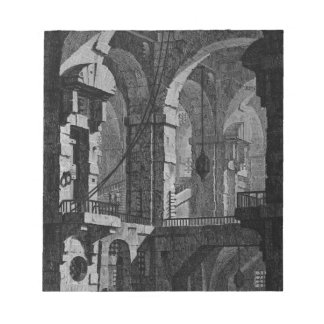 Antenna dark prison by Giovanni Battista Piranesi Notepad