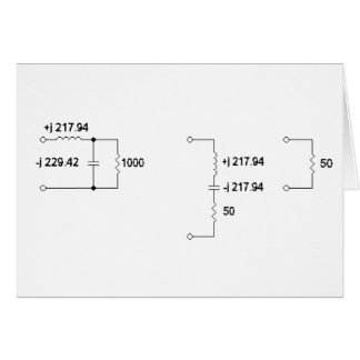 Antenna Tuning Unit Diagram Greeting Card