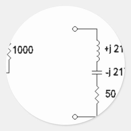 antenna tuning unit diagram classic round sticker