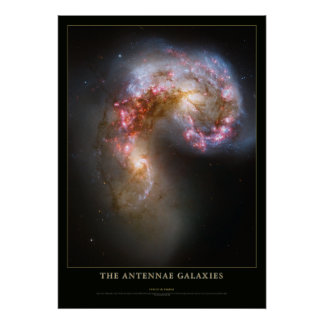 Antennae Galaxies Astronomy Poster