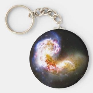 Antennae Galaxies Basic Round Button Keychain