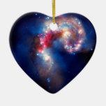Antennae Galaxies Colliding Christmas Ornaments
