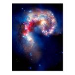 Antennae Galaxies Colliding Postcards
