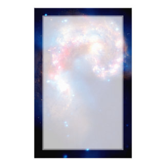 Antennae Galaxies Colliding Stationery