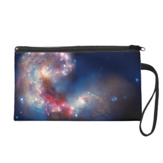 Antennae Galaxies Colorful Composite Wristlet Clutches