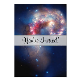 "Antennae Galaxies Colorful Composite 5"" X 7"" Invitation Card"
