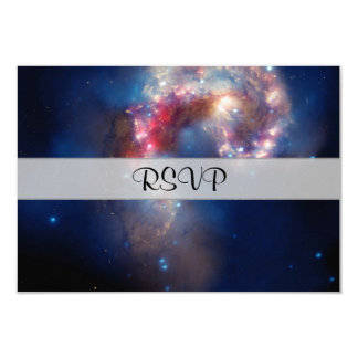 "Antennae Galaxies Colorful Composite 3.5"" X 5"" Invitation Card"