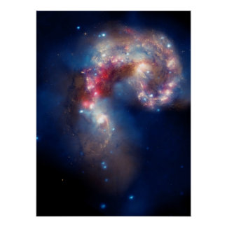 Antennae Galaxies Colorful Composite Posters