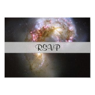 """Antennae Galaxies 3.5"""" X 5"""" Invitation Card"""
