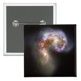 Antennae Galaxies, NGC 4038/4039 2 Inch Square Button