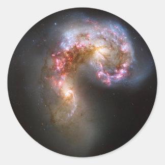 Antennae Galaxies, NGC 4038-4039 Classic Round Sticker