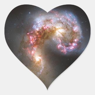 Antennae Galaxies, NGC 4038-4039 Heart Sticker