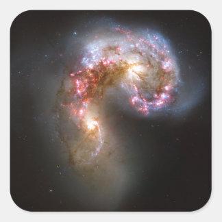 Antennae Galaxies, NGC 4038-4039 Square Sticker