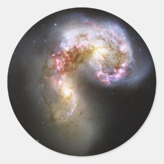 Antennae Galaxies NGC 4038 NGC 4039 Caldwell 60 61 Classic Round Sticker
