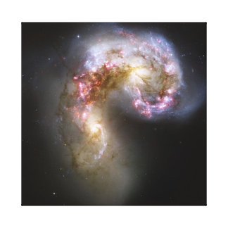 Antennae Galaxies on canvas