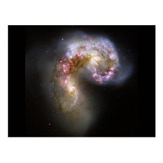 Antennae Galaxies Postcard