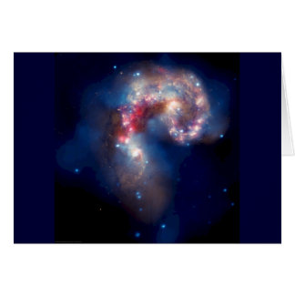 Antennae Galaxies - Supernovas and Black Holes Stationery Note Card