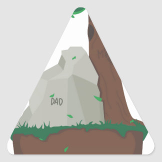 Antepasado del papá y de la mamá pegatina de triangulo personalizadas