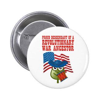 Antepasado revolucionario de la guerra pins