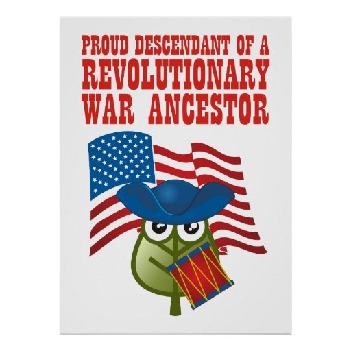 Antepasado revolucionario de la guerra poster