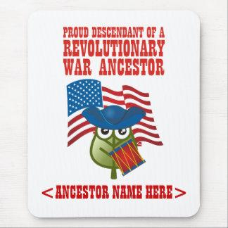 Antepasado revolucionario de la guerra tapetes de raton