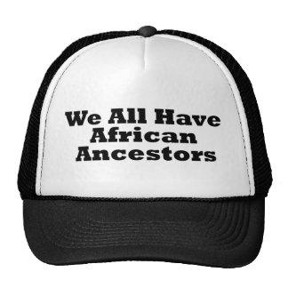 Antepasados africanos gorro de camionero