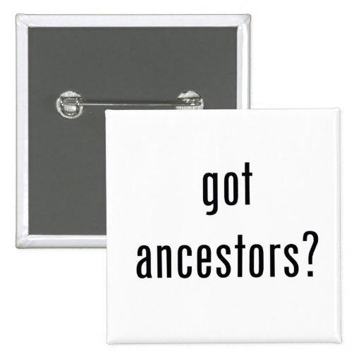 ¿antepasados conseguidos? botón pin cuadrado