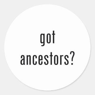 ¿antepasados conseguidos? pegatina redonda