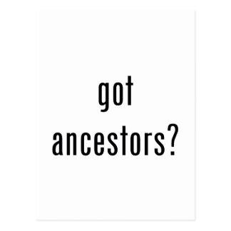 ¿antepasados conseguidos postal