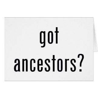 ¿antepasados conseguidos? tarjeta de felicitación