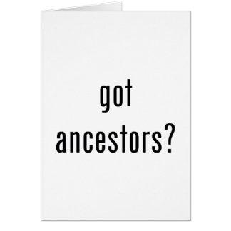 ¿antepasados conseguidos tarjeton